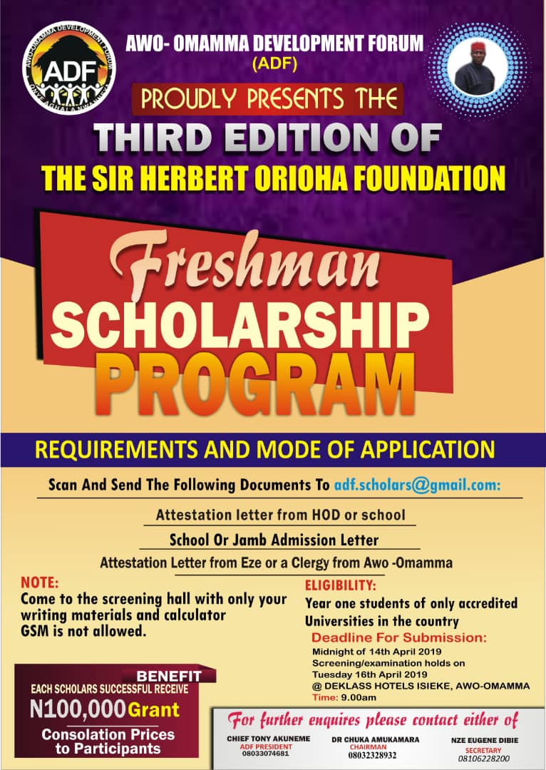 ADF Herbert Orioha Scholarship for Awo-omamma